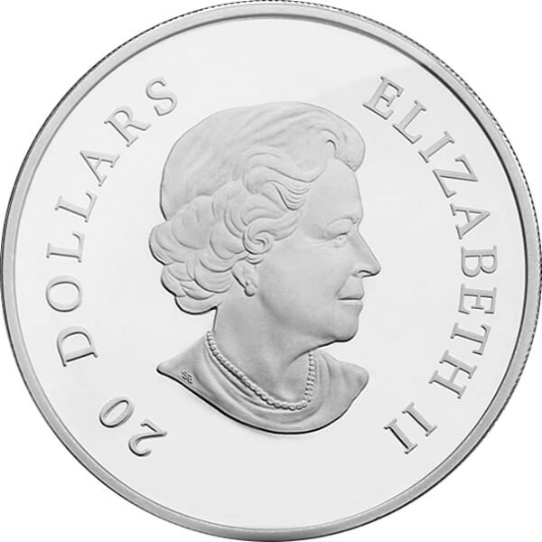 Canada 2011 20$ Hyacinth Red Small Crystal Snowflake (2011) Proof Silver Coin