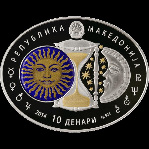 Macedonia 2014 10 Denars Libra Signs of the Zodiac Proof Silver Coin