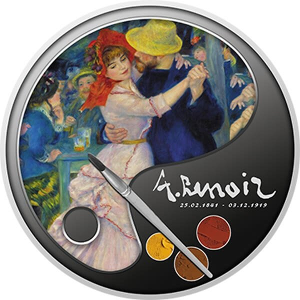 Dance at Bougival 100th Anniversary of Death - Renoir Proof Silver Coin 1$ Niue 2019