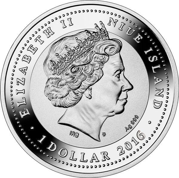 Niue 2016 1$ Friesian Horse Man's Best Friends – Horses Proof Silver Coin