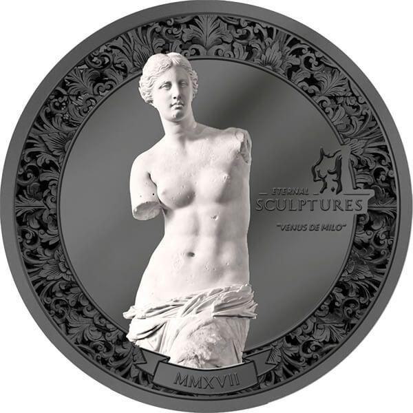 Palau 2017 10$ Venus de Milo - Eternal Sculptures 2 oz Black Proof Silver Coin
