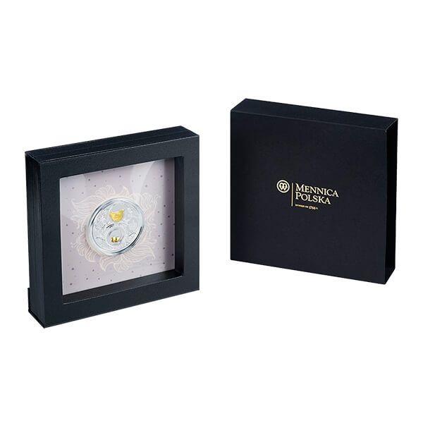 Niue 2017 2$ Golden Lucky Hen Faberge Eggs Proof Silver Coin