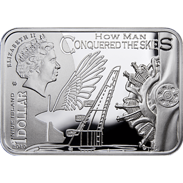 Icarus How Man Conquered Skies Proof Silver Coin 1$ Niue 2010