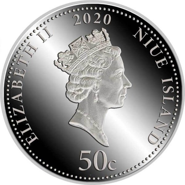 Time is Money  Proof Silver Coin 50 cents Niue 2020