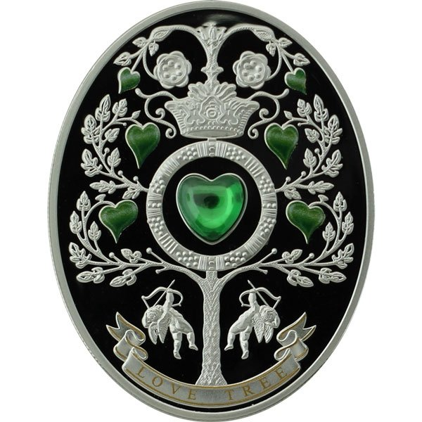 Niue 2013 1$ Love Tree. Proof Silver Coin