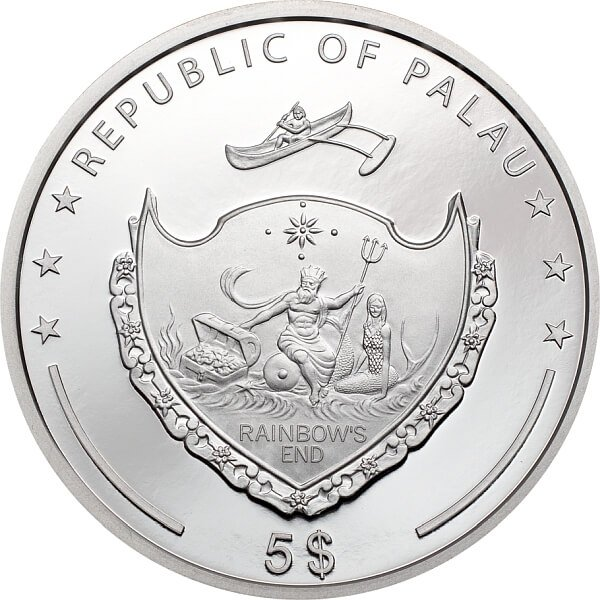 Lady Luck 1 oz Proof Silver Coin 5$ Palau 2021