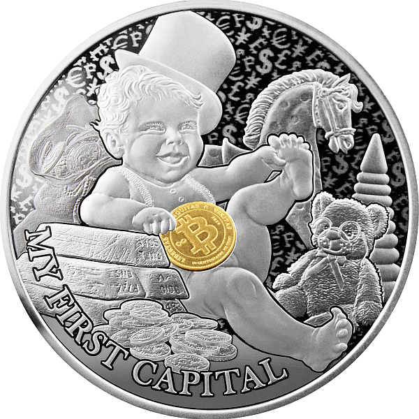 My First Capital My First Treasures 1/2 oz Proof Silver Coin 1$ Niue 2021