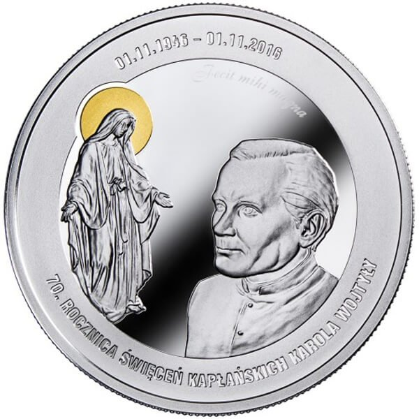 Karol Wojtyla - 70th Anniversary of holy orders 1 Kilo Proof Silver Coin 100000 Francs Cameroon 2016