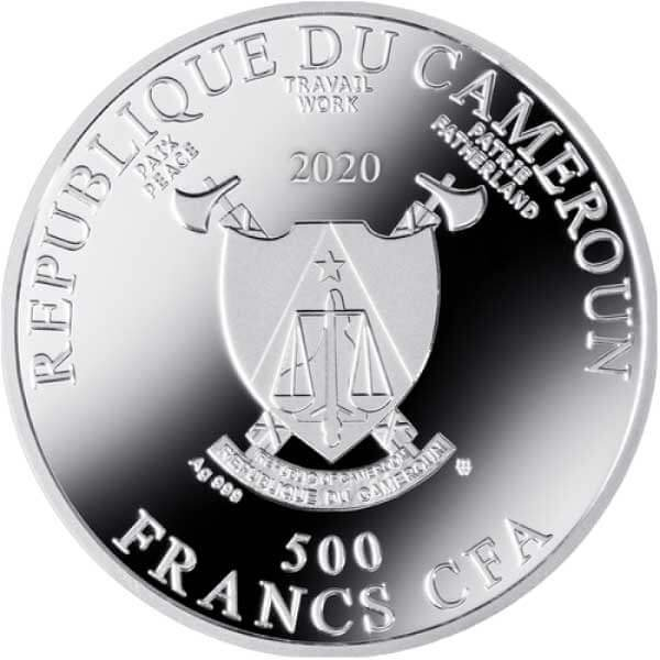 Sistine Madonna 500th Anniversary Of The Death Of Raphael Proof Silver Coin 500 Francs Cameroon 2020