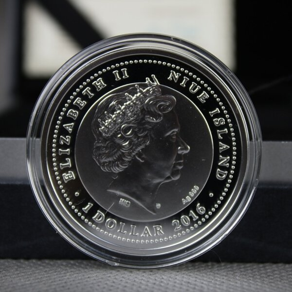 Niue 2016 1$ SOS for the World - Pianta Island Tortoise Proof Silver Coin