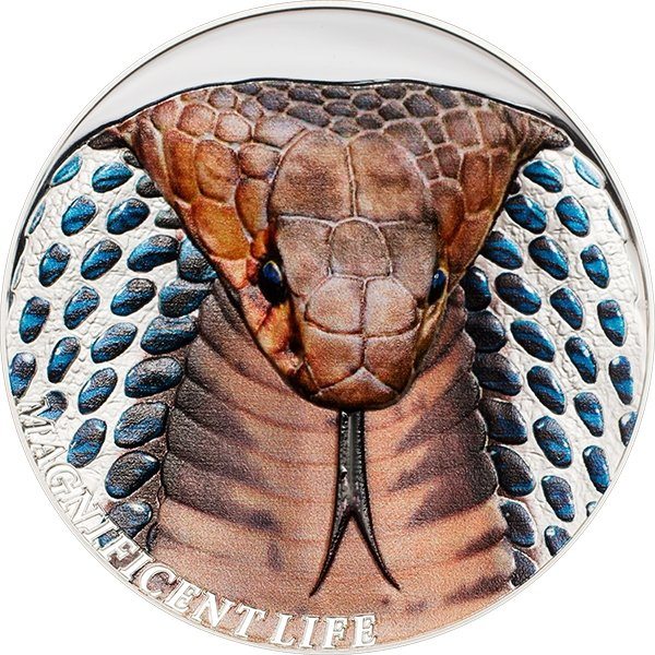 Cobra Magnificent Life 1 oz Proof Silver Coin 5$ Cook Islands 2017
