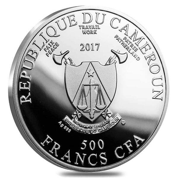 The Scholar at the Lectern Pride of European Painting Proof Silver Coin 500 Francs Cameroon 2017