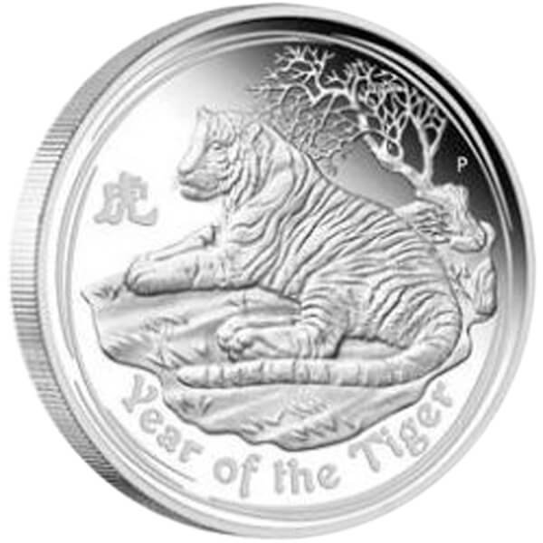 Year of the Tiger (3-Coin Set) Proof Silver Set 3.5$ Australia 2010