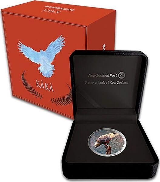 Kaka Nestor 2 oz Proof Silver Coin 1$ New Zealand 2020
