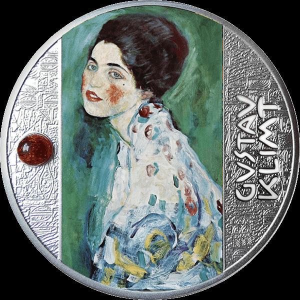 Portrait of a Lady Gustav Klimt  Proof Silver Coin 500 Francs CFA Cameroon 2021
