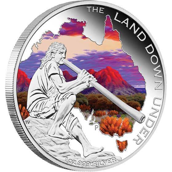 Australia 2013 1$ Didgeridoo 2013. The Land Down Under Proof Silver Coin