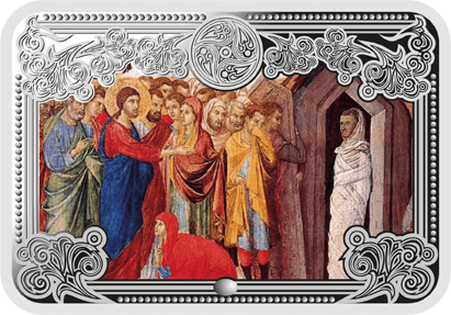 The Rasing of Lazarus The Wonders of Jesus Christ Proof Silver Coin 5 diners Andorra 2013
