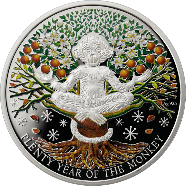 Niue 2016 1$ Plenty Year of the Monkey Proof Silver Coin