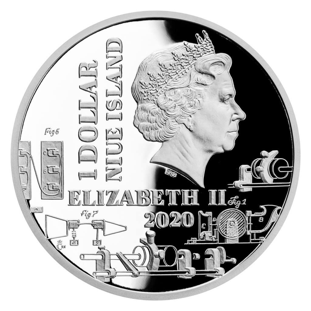 Thomas Alva Edison Century Geniuses 1 oz Proof Silver Coin 1$ Niue 2020