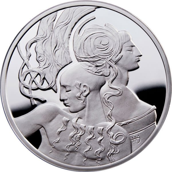 Samson & Delilah Famouse Love Stories Proof Silver Coin 1$ Niue 2010