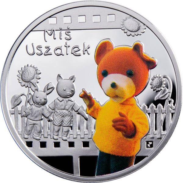 Teddy Floppy Ear Cartoon Characters Proof Silver Coin 1$ Niue 2010