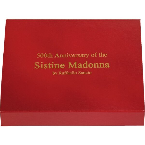 500 Years The Sistine Madonna by Raphael 1 kilo Proof Silver Coin 100 diners Andorra 2012