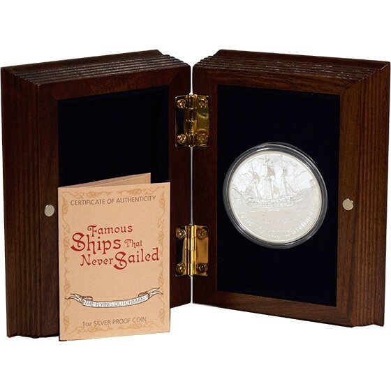 Tuvalu 2013 1$ The Flying Dutchman Famous Ships That Never Sailed Proof Silver Coin