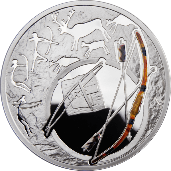 Bow Mankind's Crucial Achievements Proof Silver Coin 1$ Niue 2010