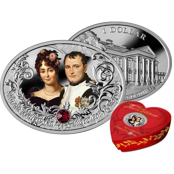 Niue 2014 1$ The Most Beautiful Polish Love Stories - Napoleon Bonaparte & Maria Walewska Proof Silver Coin
