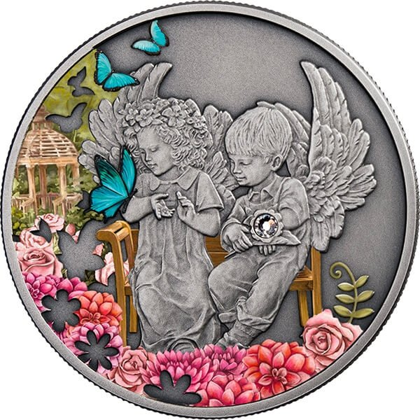 Niue 2016 1$ Attendant Angel Antique finish Silver Coin