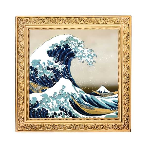 The Great Wave Treasures of World Painting 1oz Proof Silver Coin 1$ Niue 2020
