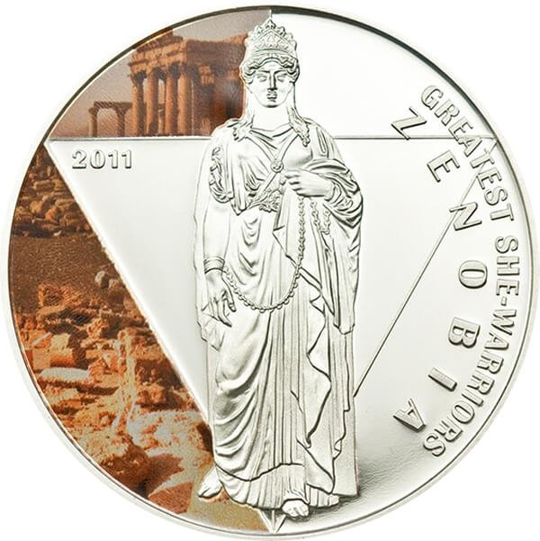 Togo 2011 500 Francs Zenobia Greatest She Warriors Proof Silver Coin
