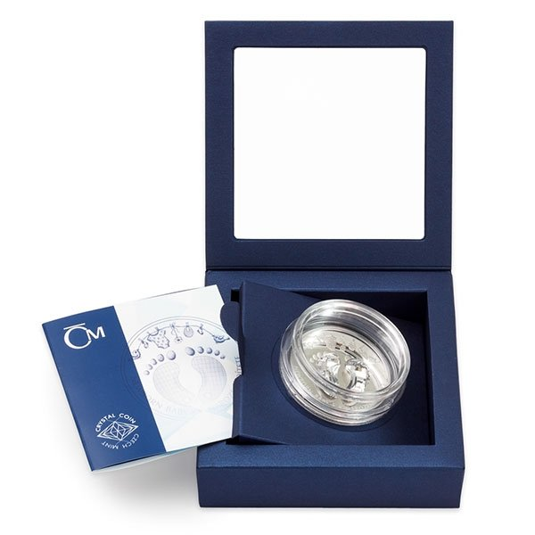 Newborn Baby 1 oz Proof Silver Coin 2$ Niue 2019