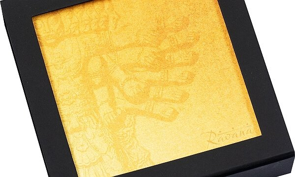 Ravana King of Demons 3 oz Silk finish Silver Coin 20$ Cook Islands 2021