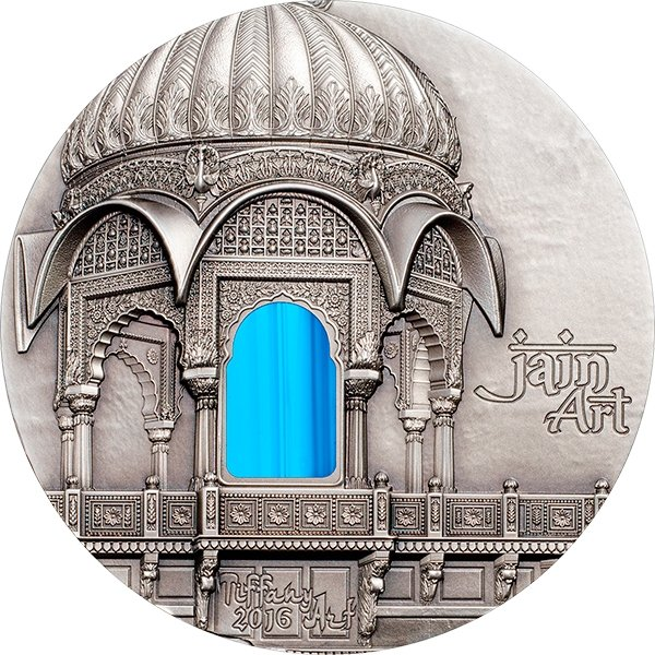 Palau 2016 10$ Jain Art Tiffany Art 2 oz Antique finish Silver Coin