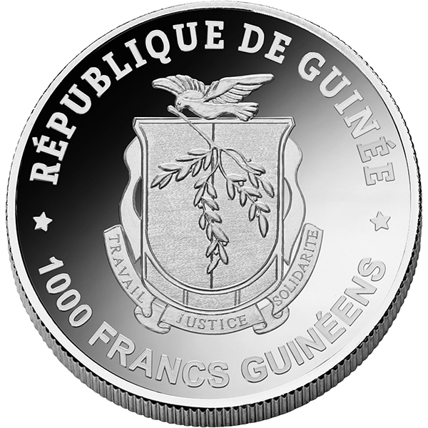 Equatorial Guinea 2017 1000 Francs Birch Leaf Winter Proof Silver Coin