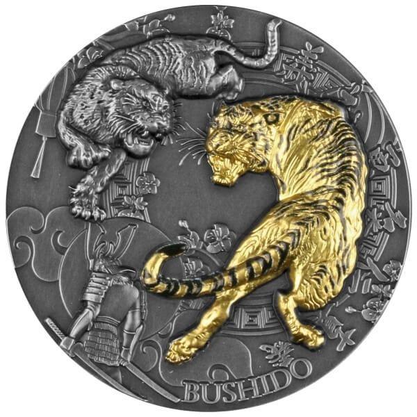 Bushido 2 oz Antique finish Silver Coin 5$ Niue 2021