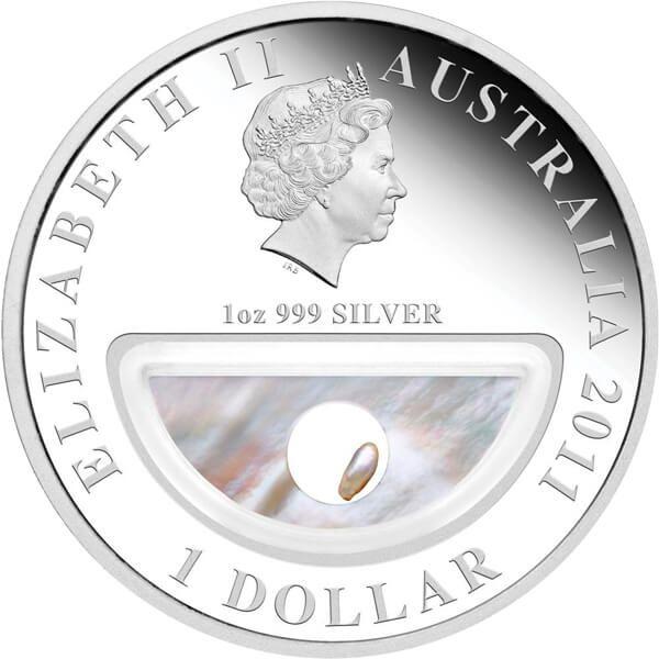 Australia 2011 1$ Pearls Treasures of Australia Proof Silver Coin
