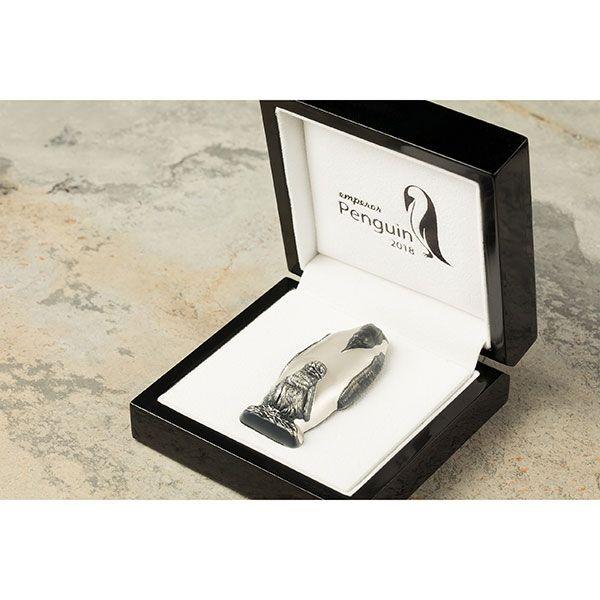 Emperor Penguin 88g Antique finish Silver Coin Cook Islands 2018 20$