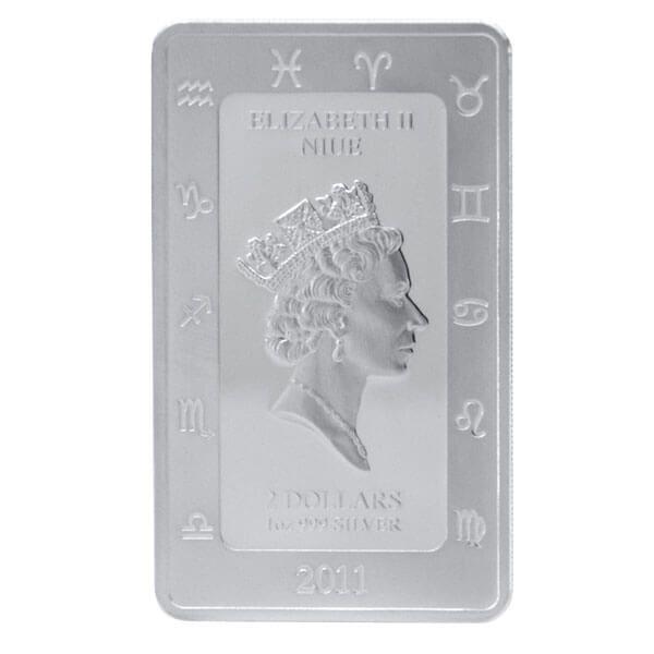 The Leo Zodiac Series Art by Kagaya Proof Silver Coin 2$ Niue 2011