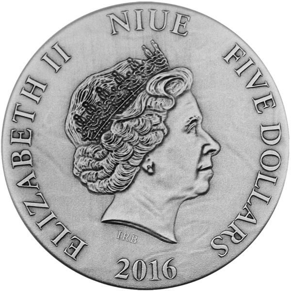 Niue 2016 5$ I Give You My Heart Emotions series 3oz Antique finish Silver Coin