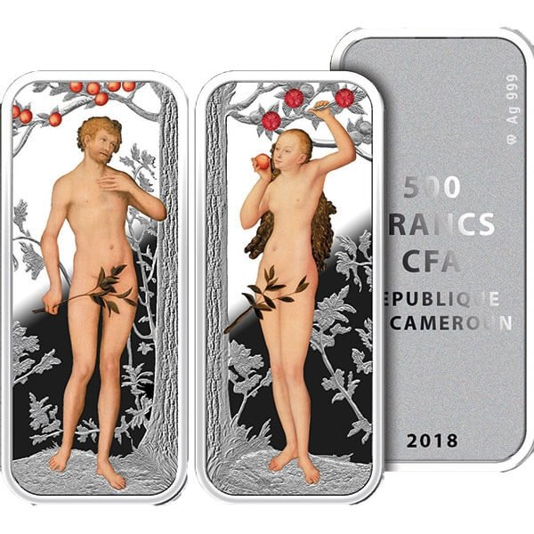Eden Proof Silver Set 2 x 500 Francs Cameroon 2018