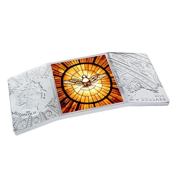 Niue 2014 20$  The canonization of John Paul II  4 Oz Proof Silver Coin