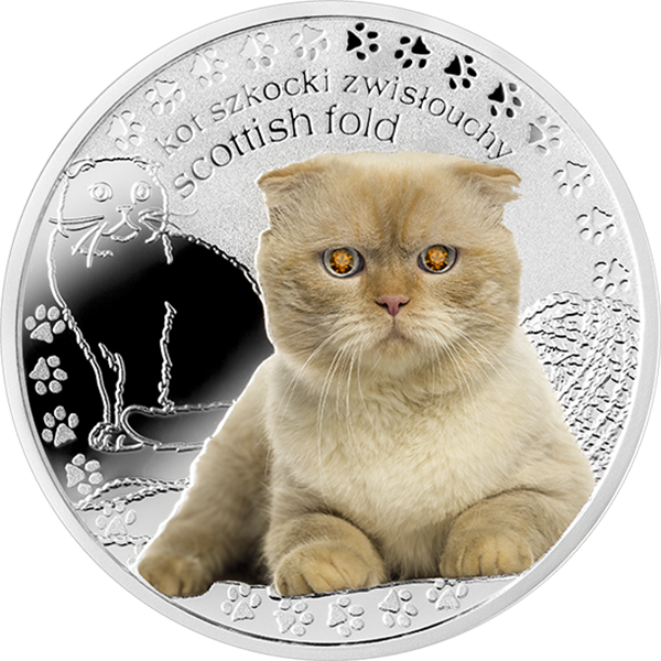 Niue 2015 1$ Scottish Fold Man's Best Friends – Cats Proof Silver Coin