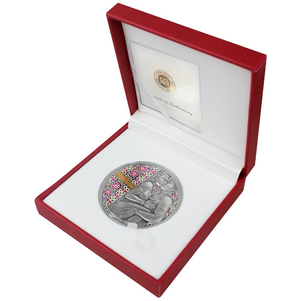 Kama Sutra Moments of Love 3 oz Antique finish Silver Coin 3000 Francs CFA Cameroon 2019