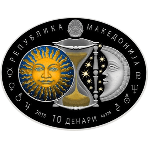 Macedonia 2014 10 Denars Aquarius Signs of the Zodiac Proof Silver Coin