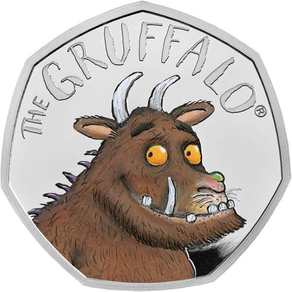 20th Anniversary The Gruffalo Proof Silver Coin United Kingdom 2019 50 Pence