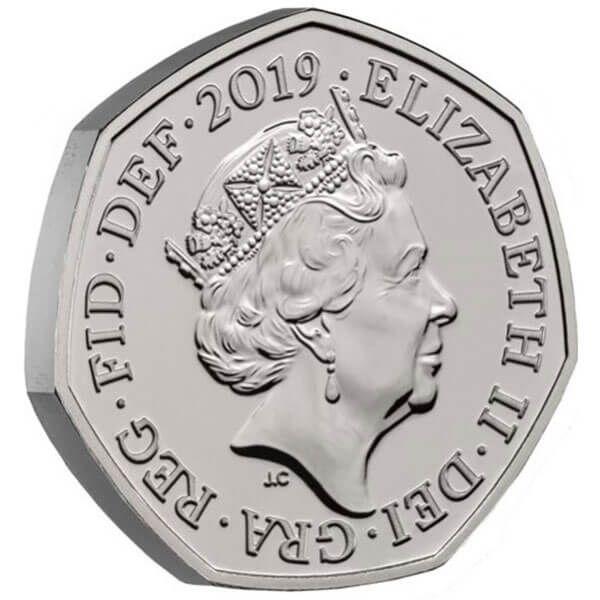 A Celebration of Sherlock Holmes BU CuNi Coin 50p United Kingdom 2019