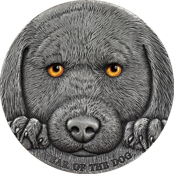 Year of the Dog 3 oz Antique finish Silver Coin 3000 Francs CFA Cameroon 2018