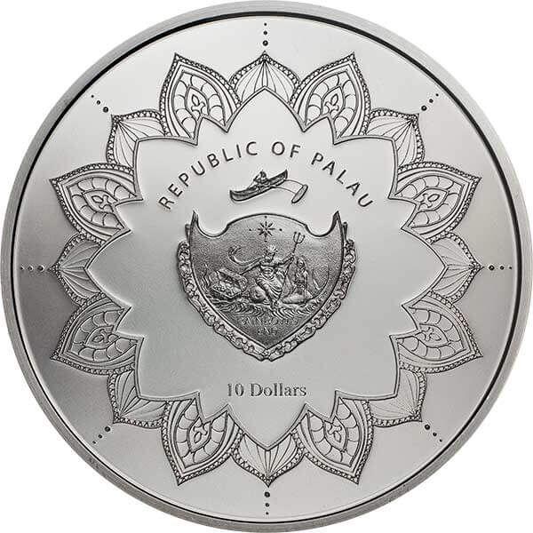 Laughing Buddha 2018 2 oz Proof Silver Coin 10$ Palau 2018